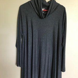 Comfy USA Charcoal Grey Long-Sleeved A-Line